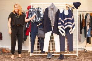 navy grid from Off The Rails Fashionista