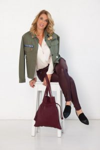 Burgundy pants from Off The Rails Fashionista