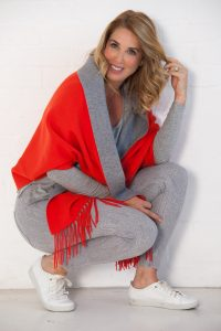 Orange poncho from Off The Rails Fashionista