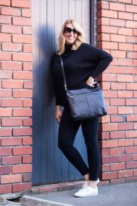 Black on black from Off The Rails Fashionista