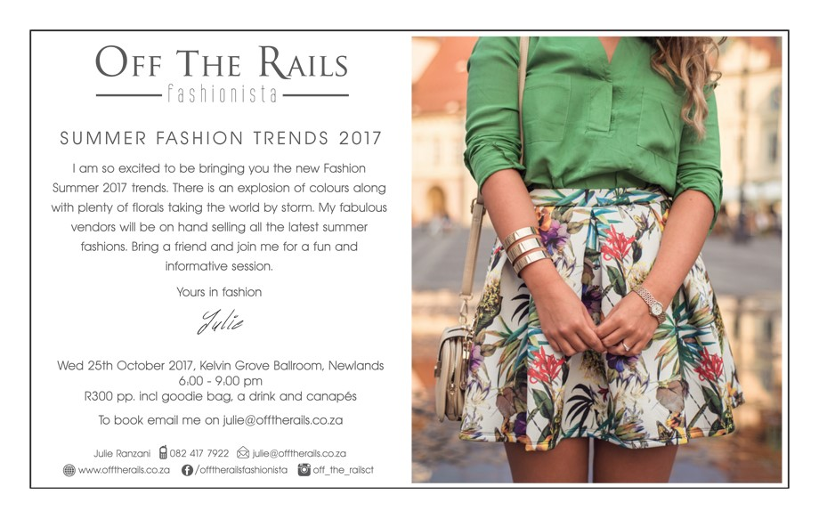 Summer 2017 fashion event from Offtherails
