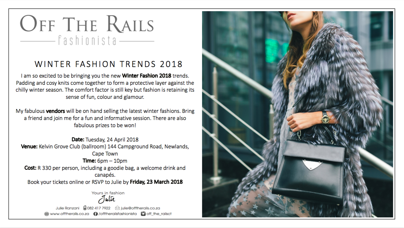 Autumn/Winter fashion event from Offtherails