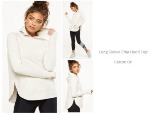 long sleeve chia hood top from Off The Rails Fashionista
