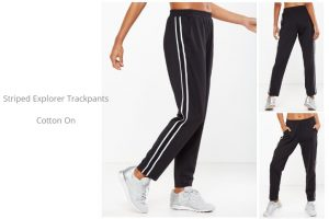 striped explorer trackpants from Off The Rails Fashionista